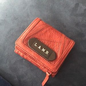 LAMB red small wallet